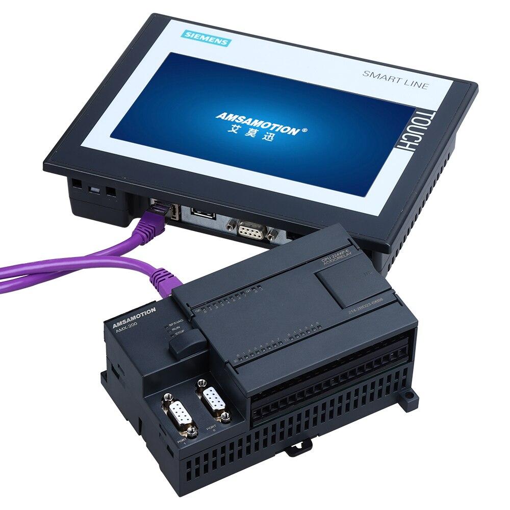 CPU224XP CPU224-E PLC مع منفذ إيثرنت Replce سيمنز S7-200 مبرمج 14I/10 O التناظرية 2AI 1AO التتابع نوع الترانزستور