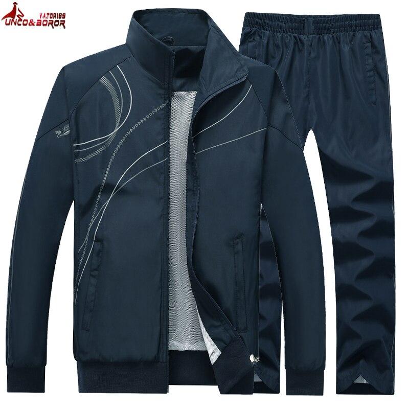 ملابس رياضية للرجال لربيع وخريف 2020 ، ملابس خارجية ، طقم ركض من قطعتين ، جاكيت وسروال ، بدلة رياضية غير رسمية