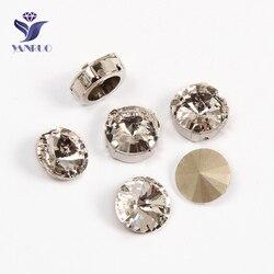 Yanruo 1122 rivoil cristal topo costurar em pedras strass cristais pointback strass pedras para clotes diy diamante redondo