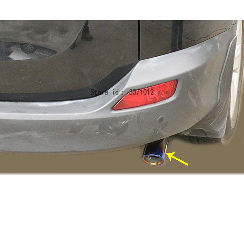 Cubierta de diseño de coche silenciador Punta de tubo de escape dedicado Acero inoxidable Punta de escape Salida de cola 1 Uds para Toyota RAV4 2016 2017 2018