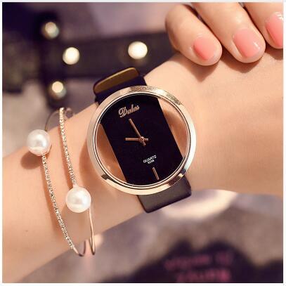 2020 Top Style Fashion Women's Luxury Leather Band Analog Quartz Wrist Watch Ladies Watch Women Dress Reloj Mujer Black Clock women s bus style pu leather band quartz wrist watch black