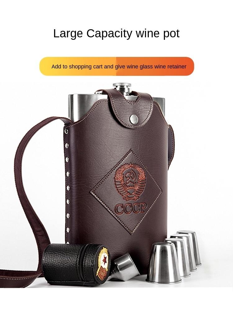 Garrafa de Vinho de Aço Garrafa de Vinho Portátil ao ar Russo Engrossado Superior Grau Inoxidável 1-235 10 Jin Livre 304