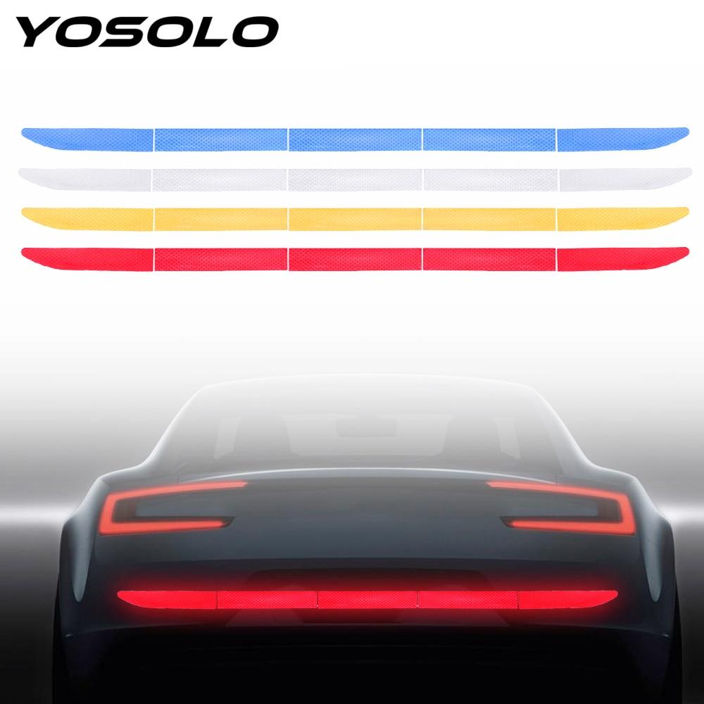 YOSOLO Auto decoraciones tronco pegatina de advertencia tira coche-estilismo calcomanía reflectante de automóvil Nano cinta tira para la seguridad de la conducción