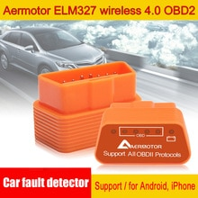 Aermotor-WIFI OBD2 ELM327   Bluetooth 4.0, Scanner de voiture, adaptateur de Diagnostic de voiture pour Android & Apple détecteur de failles de voiture