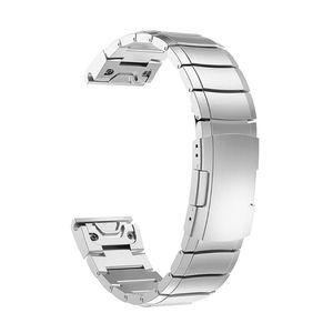 Stainless Steel Wristband Metal Strap for garmin Fenix 5X/3/3 HR Smart Bracelet XX9D