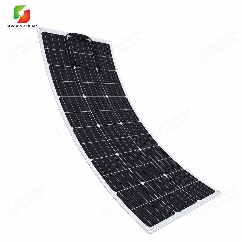 الصين مصنوعة البحرية ، والتخييم ، واستخدام القافلة عالية الكفاءة أحادية الخلايا الشمسية 100 واط ETFE لوحة طاقة شمسية مرنة