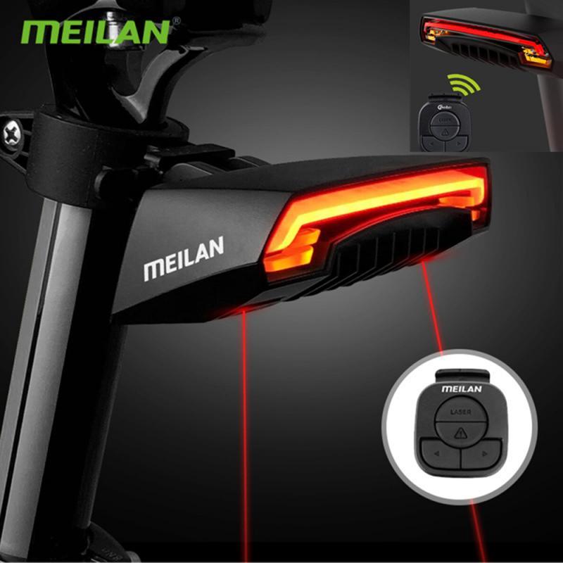 ¡Nuevo! Luz trasera de bicicleta Meilan X5 con Control remoto, carga USB inalámbrica, freno de giro, bicicleta de montaña, luz trasera, bicicleta de carretera, luz trasera LED