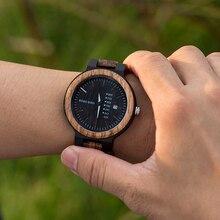 часы мужские BOBO часы с птицами мужские Новые поступления бамбуковые деревянные часы для показа даты кварцевые мужские подарочные в деревянной коробке erkek kol saati