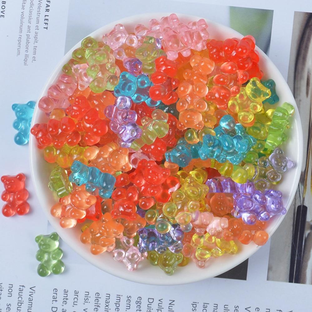 DIY Mini oso encantos para baba además Sprinkles dulces de polímero de arcilla de modelado suministros Baba caja para los juguetes para los niños