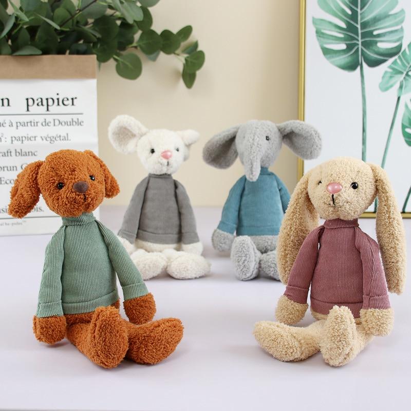 30cm novo coelho de pelúcia elefante cão rato cheio ponto coelho brinquedo do bebê unisex conforto presente crianças decoração quarto wzw