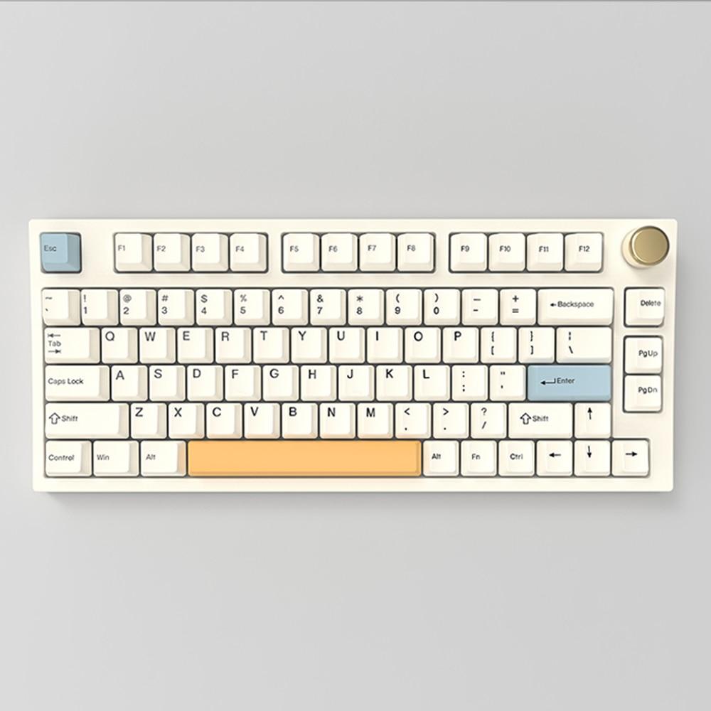 NJ80 اللاسلكية 2.4g BT 5.0 Type-c الميكانيكية RGB لوحة المفاتيح لنظام التشغيل Windows MacOS Linux للبرمجة الساخن مبادلة PCB لوحة 4400mAh البطارية