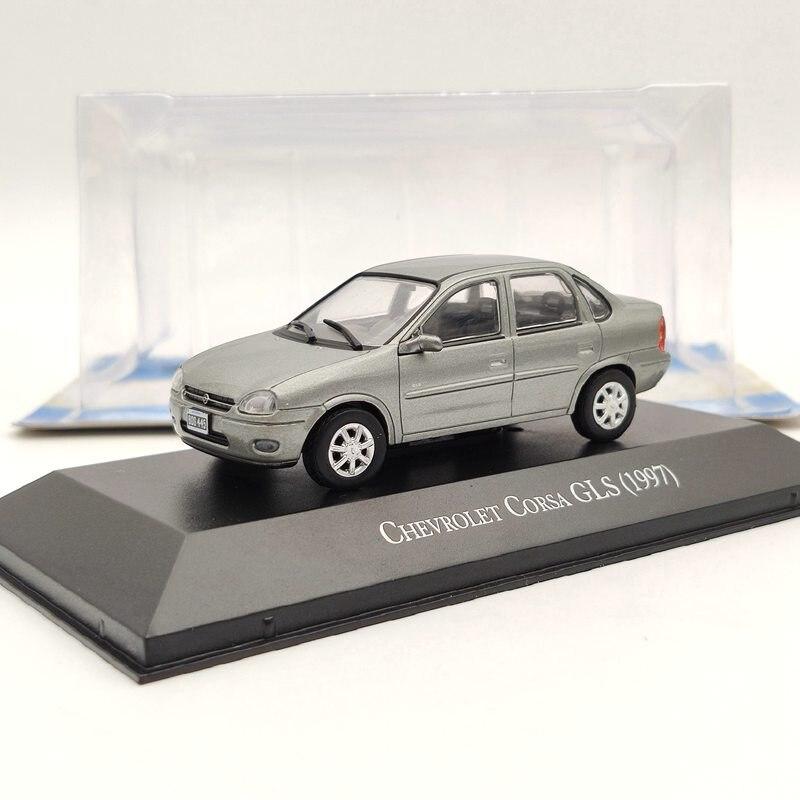 143 ixo para chevrolet corsa gls 1997 modelos diecast de prata colecao limitada carro