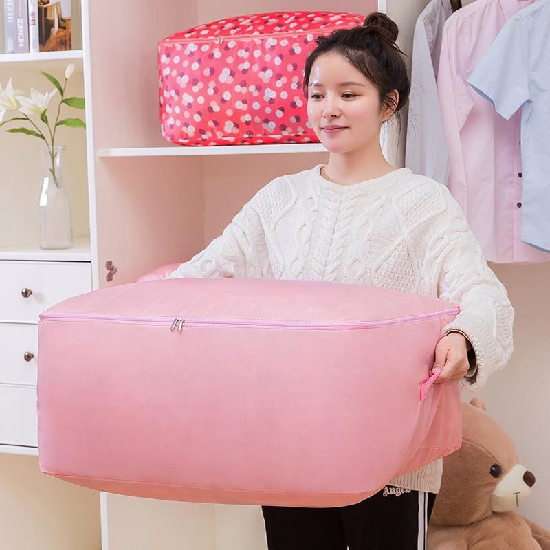 -Colcha Sub-de almacenamiento de carpetas organizadoras ropa Oxford ropa Ultra grande hogar movimiento Útil Ropa empaquetado equipaje Ba