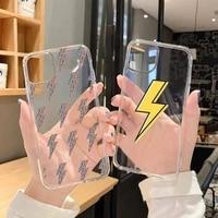 cute lightning phone case transparent soft for iphone 5 5s 5c se 6 6s 7 8 11 12 13 plus mini x xs xr pro max