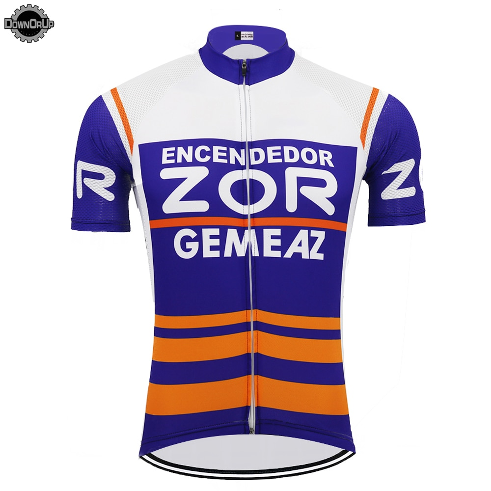 Ropa de ciclismo de equipo para hombre, jersey transpirable de manga corta