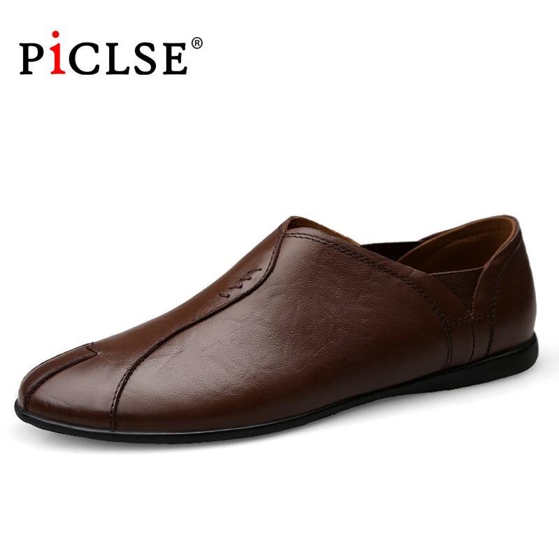 زائد حجم 46 جلد طبيعي الرجال أحذية المتسكعون لينة الأحذية الجلدية الرجال عارضة أحذية مريحة الأخفاف القيادة الأحذية الذكور