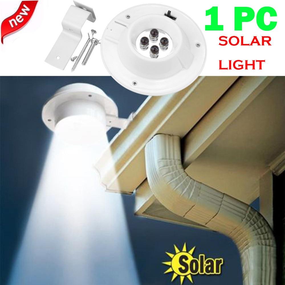 Lámpara Solar de jardín con 4 ledes, luces de pared alimentadas por energía Solar para montaje en pared, lámpara impermeable para pared de patio