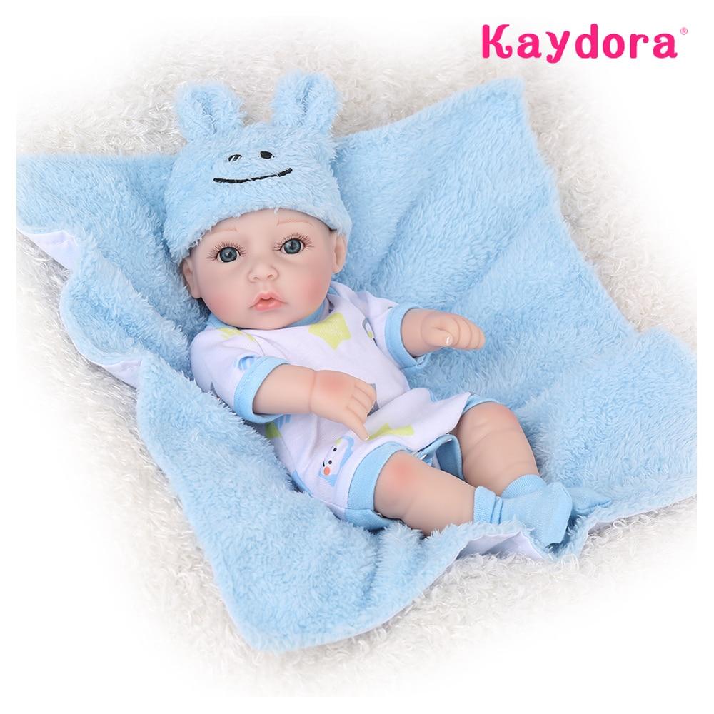 Kaydora Adorable Kids Mini Reborn Bebe Dolls 25cm Handmade Hot Sale Reborn Baby Dolls Girl Style Bath Play Toys  Christmas gift