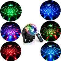 Вращающийся светодиодный сценический прожектор с активацией голосом, праздвечерние чное освещение для дискошар, стробоскосветильник с RGB ...
