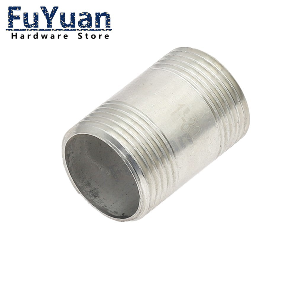 Фото - 1pcs SS 304 Stainless Steel Pipe Fittings 1/4 3/8 1/2 3/4 1 1-1/4 1-1/2 Male to Male Threaded Water connection adapter water connection adpater 1 8 1 4 3 8 1 2 3 4 1 1 1 4 1 1 2 female threaded pipe fittings stainless steel ss304