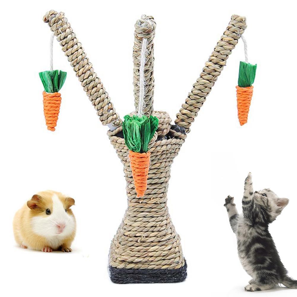 Gato hámster escalada zanahoria árbol plataforma De La Torre poste de rascar juguete de mascar 2020