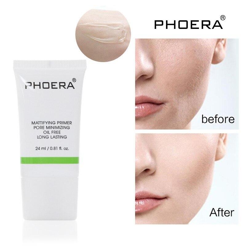PHOERA Magic Invisible poro maquillaje Primer poros desaparece cara Control de aceite mate maquillaje Base iluminar Base Primer nuevo