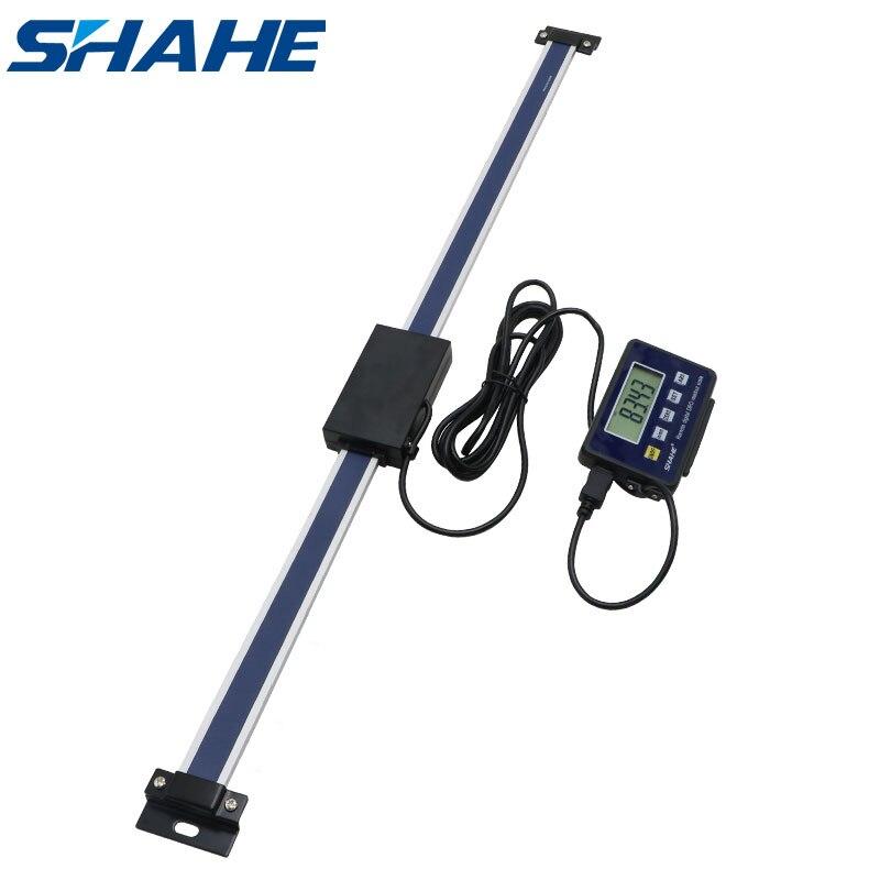 Shahe 600 مللي متر 0.01 مللي متر المغناطيسي عن بعد قراءات رقمية مقياس خطي رقمي عرض خارجي