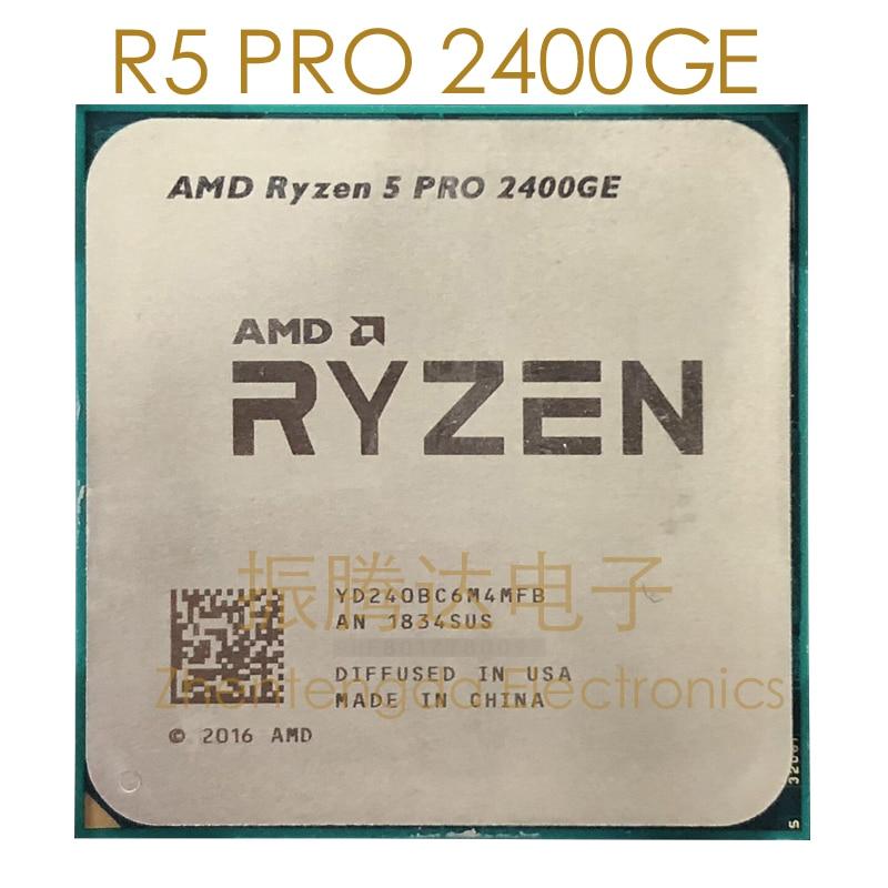 Used Computer Processor AMD Ryzen 5 Pro 2400GE 3.2GHz  Socket AM4 4 Core 8 Threads 2400GE CPU Processor