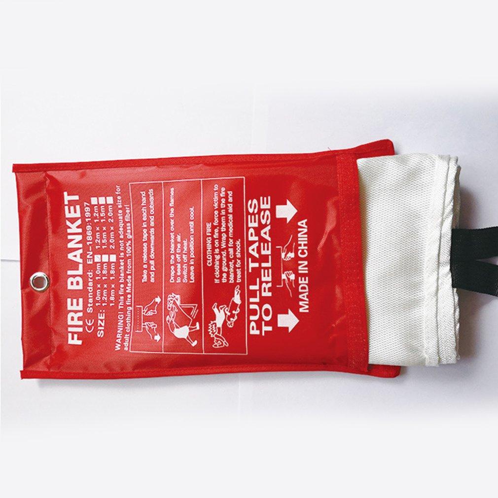Manta ignífuga de fibra de vidrio de 1,5 mx1,5 mfire, manta de seguridad ignífuga para supervivencia en situaciones de emergencia