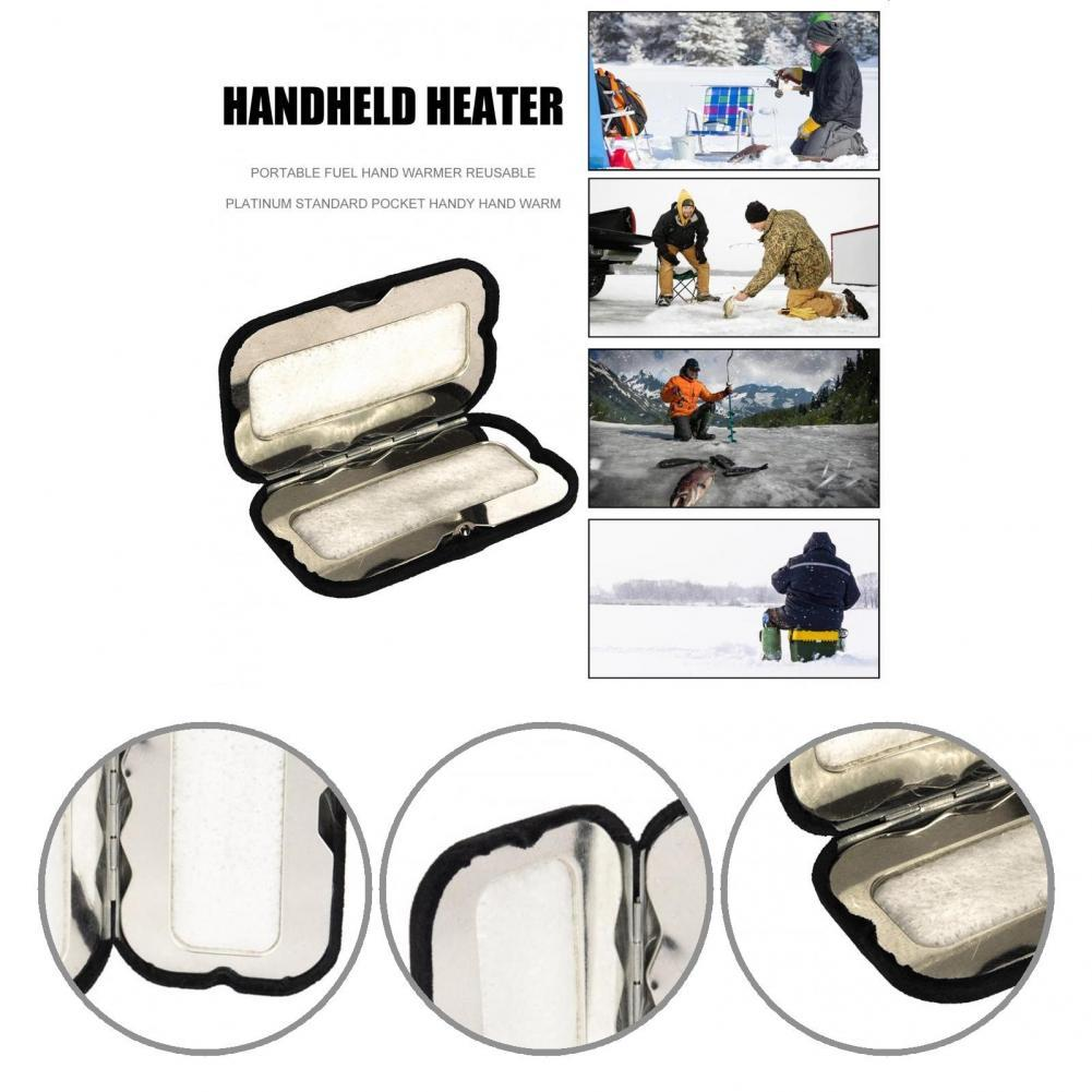 Pocket-Size Winter Sport Long-lasting Zinc Alloy Fuel Stick Outdoor Hand Warmer Carbon Rod Hand Warmer for Hiking