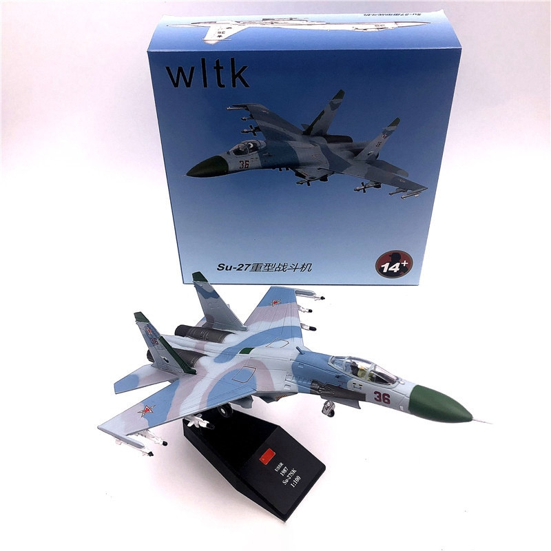 1:100 1/100 Russian Sukhoi SU27 Su27k Flanker Fighter Transport Aircraft Diecast Metal Airplane Plane Model Children Toy недорого