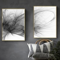 Affiche dart noir et blanc  Style abstrait  fumee qui coule  images murales pour salon et chambre a coucher  peinture  toile dart murale  decoration de la maison