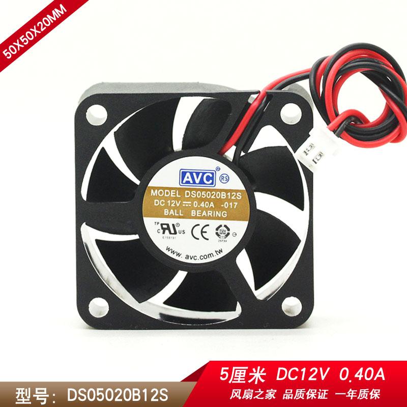 New original AVC DS05020B12S 5CM double ball fan 5020 cooling fan 50x50x20mm