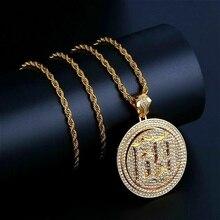Hip Hop bijoux rond 69 collier pendentif plaqué or glace sur breloque en Zircon cubique pour les hommes