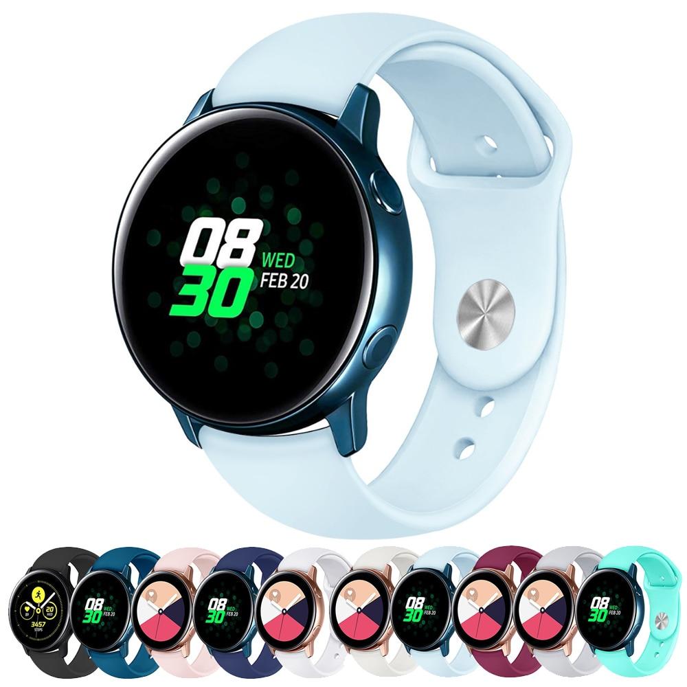 Amazfit bip Strap For Samsung galaxy watch Active Gear sport Galaxy Watch 42mm 20mm watch band Gear S2 correa wrist bracelet