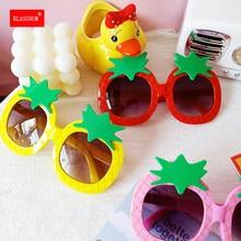 1PCS Children Cartoon Pineapple Shape Frame Sunglasses Baby Girl Boy Goggles Toy Glasses Outdoor Kid