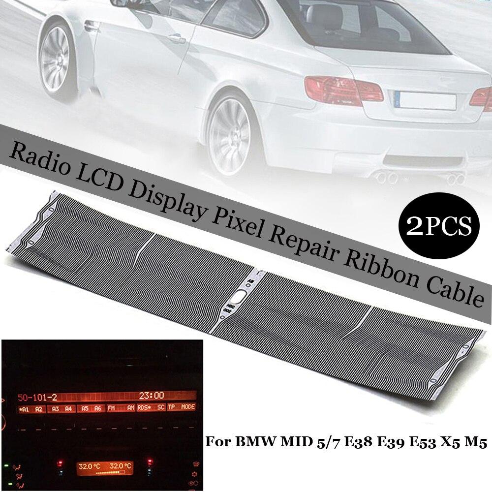 2 uds Radio pantalla LCD Reparación de píxeles Cable de cinta apto para BMW MID 5/7 Range Rover