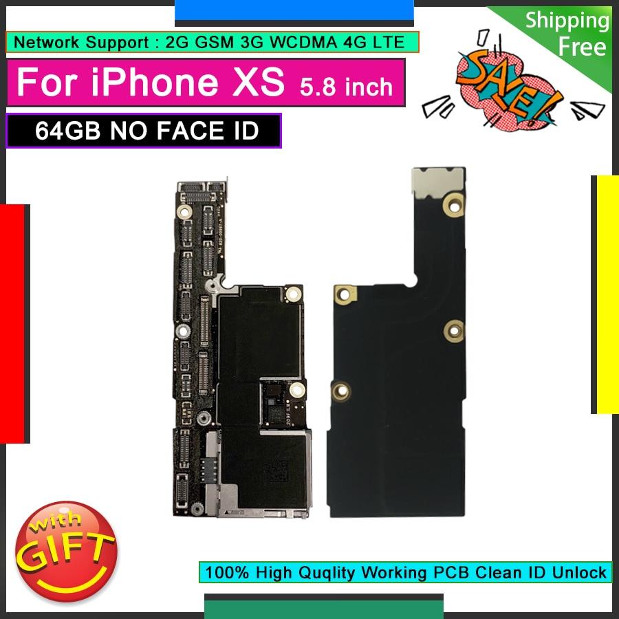 لوحة أم أصلية لهاتف IPhone XS 64 جيجا بايت بدون هوية وجه من المصنع لوحة رئيسية مفتوحة لوحة منطق iCloud مجانية لوحة عمل جيدة
