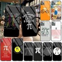 cutewanan x mathematics pi de phone case cover tempered glass for iphone 11 pro xr xs max 8 x 7 6s 6 plus se 2020 case