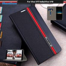 Luxury PU Leather Case For Vivo V17 India Flip Case For Vivo V19 Phone Case Soft TPU Silicone Back Cover