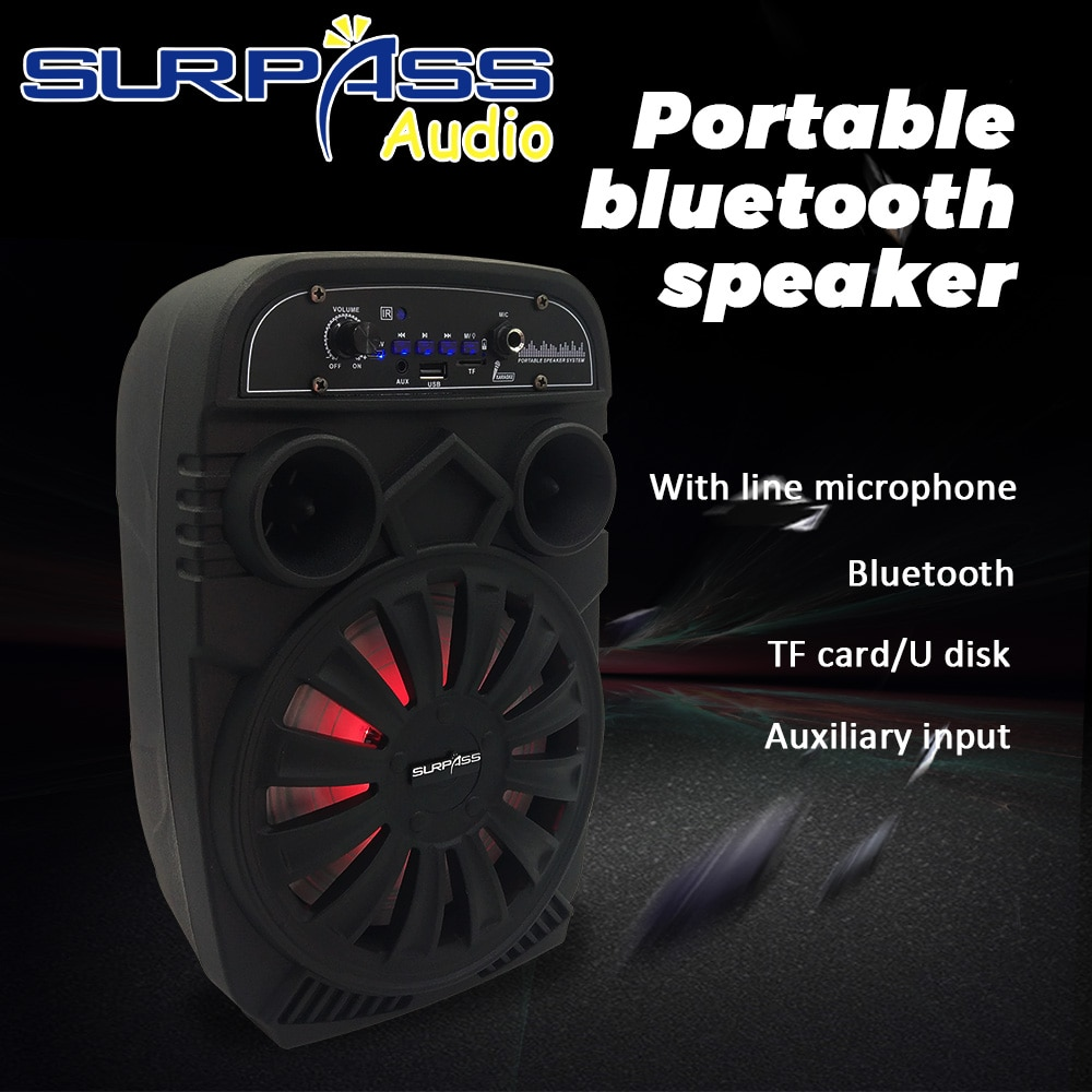 Rechargeable Battery Outdoor Speaker Bluetooth AUX Portable FM Radio Music Player High Capacity Lithium Battery Speaker With Mic enlarge