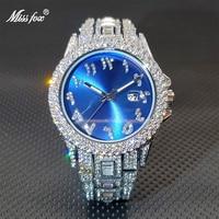 Водонепроницаемые мужские кварцевые наручные часы, стильные классические часы с бриллиантовой рамкой и циферблатом от солнца, мужские час...