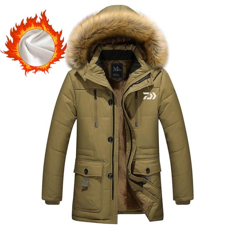 ¡Novedad de 2020! Ropa de pesca Daiwa para hombre, ropa de invierno para exteriores para senderismo a prueba de viento, chaqueta de pesca de bolsillo multifunción