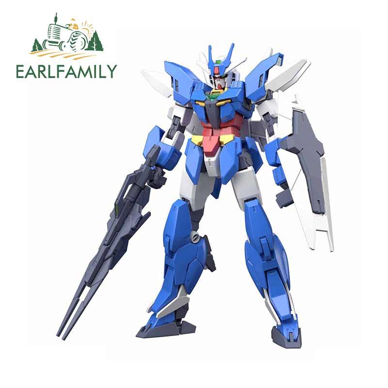 EARLFAMILY 13cm x 11,9 cm para Earthree Gundam pegatina impermeable pegatinas de vinilo para coche DIY Hip Hop personalidad creativa pegatina Decoración
