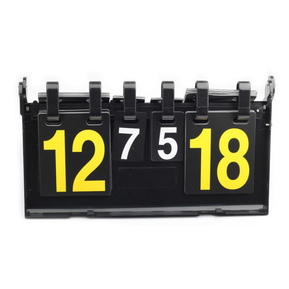 Marcador de baloncesto de cuatro dígitos, marcador de tenis de mesa, Flip Badminton, 4 dígitos, tablero de puntuación de plástico para competición deportiva
