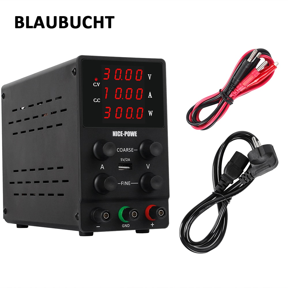4Digits Mini Dc Switching Laboratory Power Supply Adjustable 30V 10A 60V 5A LED Display Adjustable Voltage And Current Regulator
