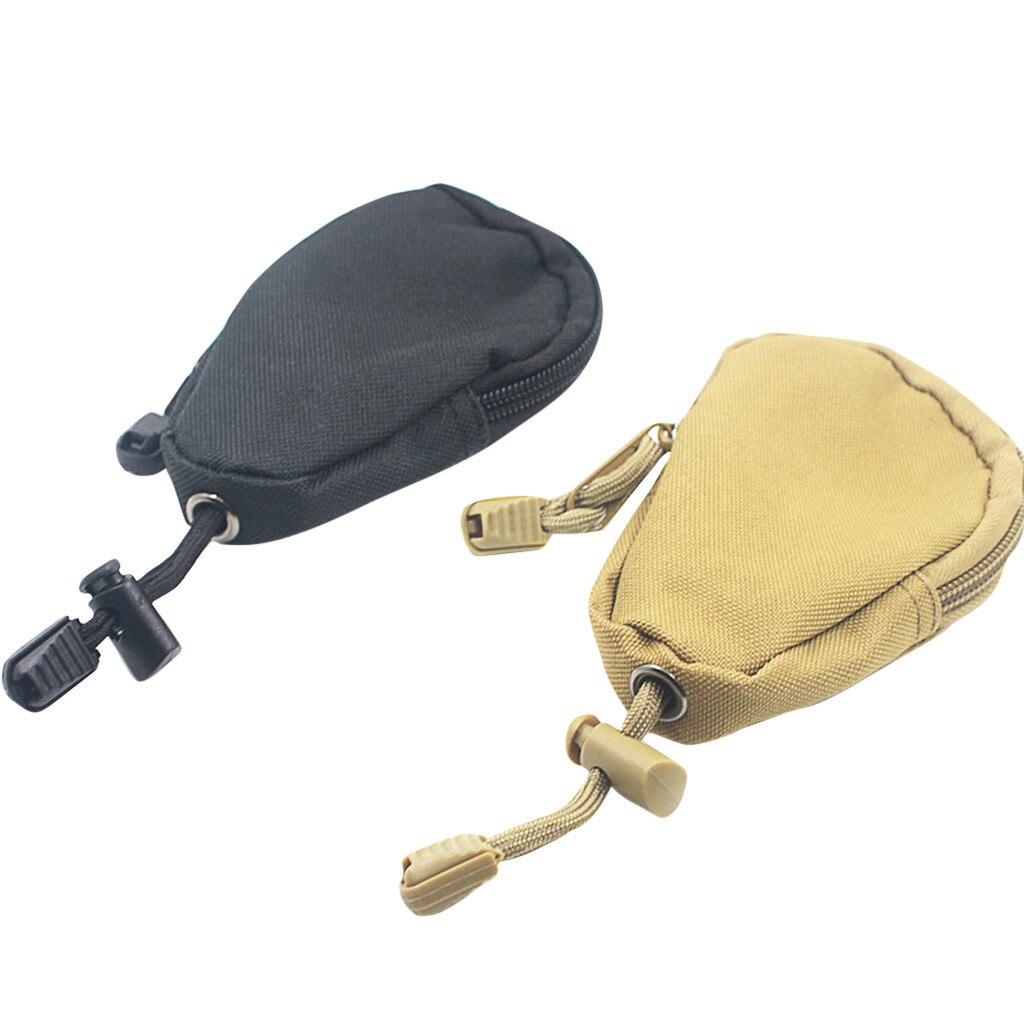 1 pçs mini chave carteiras titular bolsa de moedas bolsa saco de esportes pequeno bolso chaveiro zíper caso ao ar livre pacote fitness k1