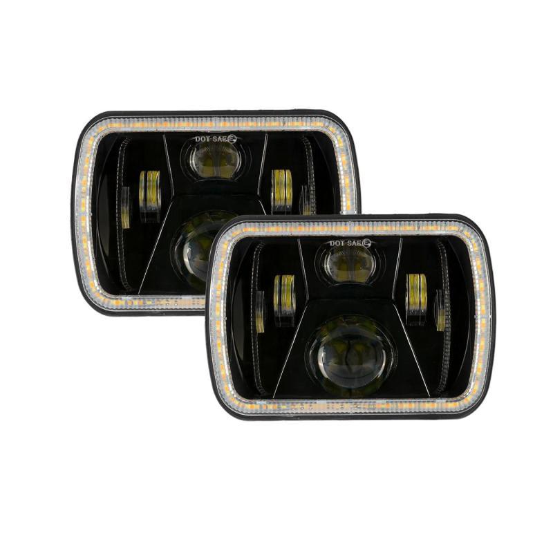 7X6 faros LED para automóvil 6000K 280W 28000LM corriendo a luz de señal Hi-Lo viga para Jeep Cherokee XJ Wrangler YJ para GMC/Ford
