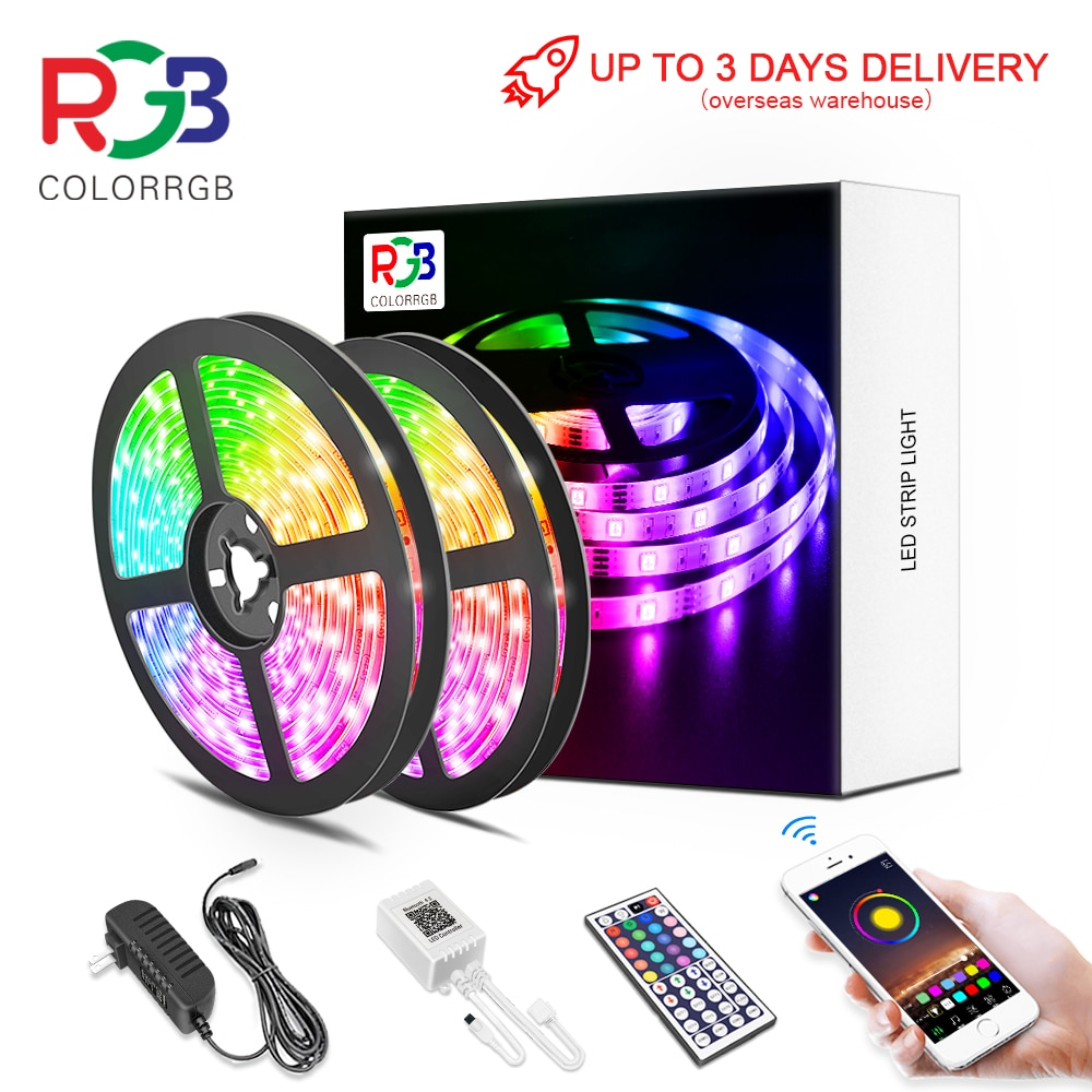 LED Strip Light ,RGB 5050/SMD2835, Flexible Ribbon, DIY Led Light Strip RGB  Tape Diode DC 12V Phone app bluetooth