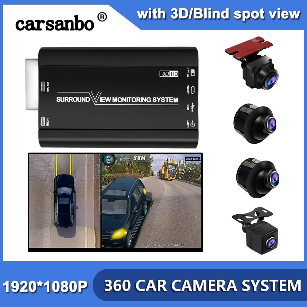 Car GLS/GLE/ML/GLC Sistema de 360 grados vista de pájaro Surround Multi-ángulo de visión Cámara Newst HD 4 cámara sin costuras 3D 1080P coche DVR